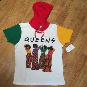 Tops - African American inspired T-shirt with hoodie